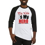 Lung Cancer Hero (Wife) Baseball Jersey