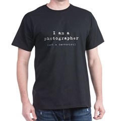 photographer (not terrorist) Black T-Shirt