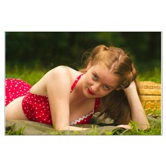 Army Jill on a picnic during WW2 - Large Poster