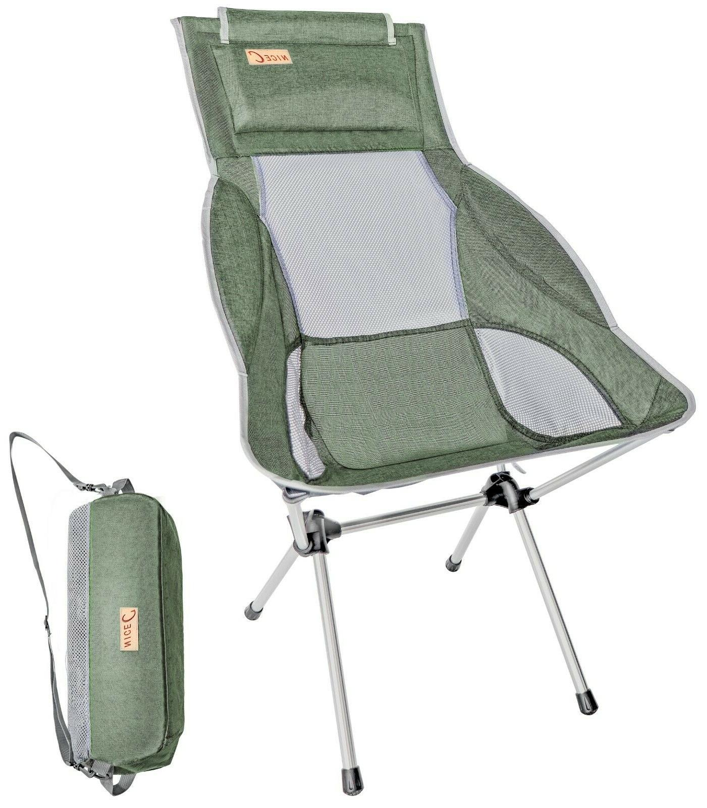 Ultralight High Back Folding Camping Chair With Headrest