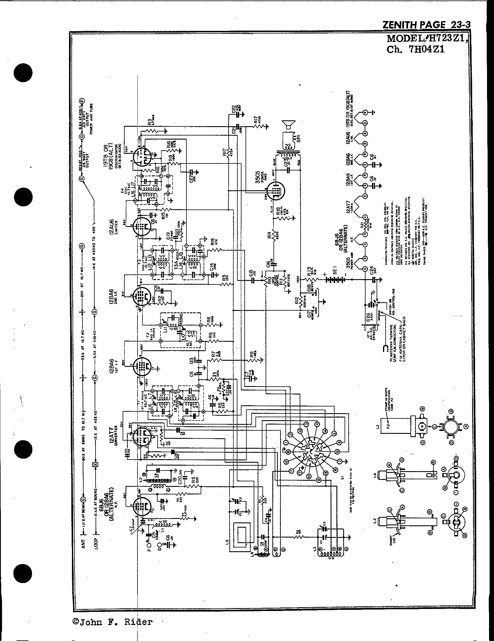 Zenith Radio Schematic R 723