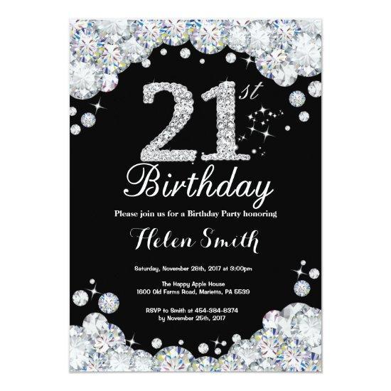 21st birthday invitation chalkboard