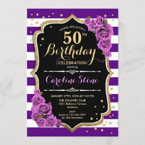 purple 18th birthday invitations