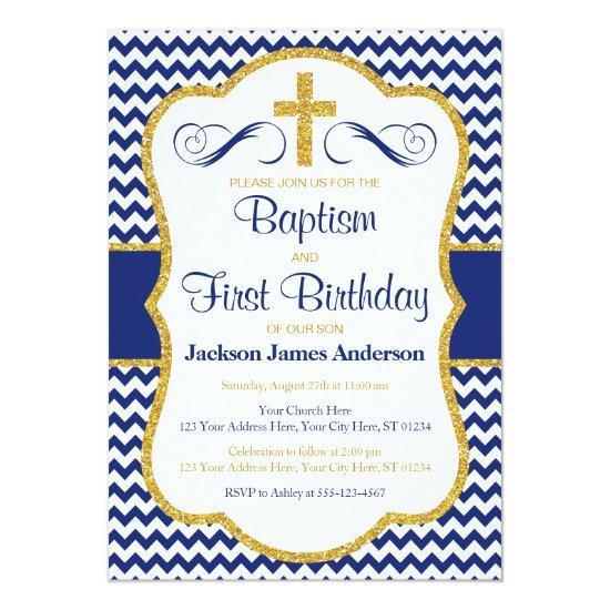 baptism and first birthday invitation