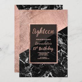 marble 21st birthday invitations