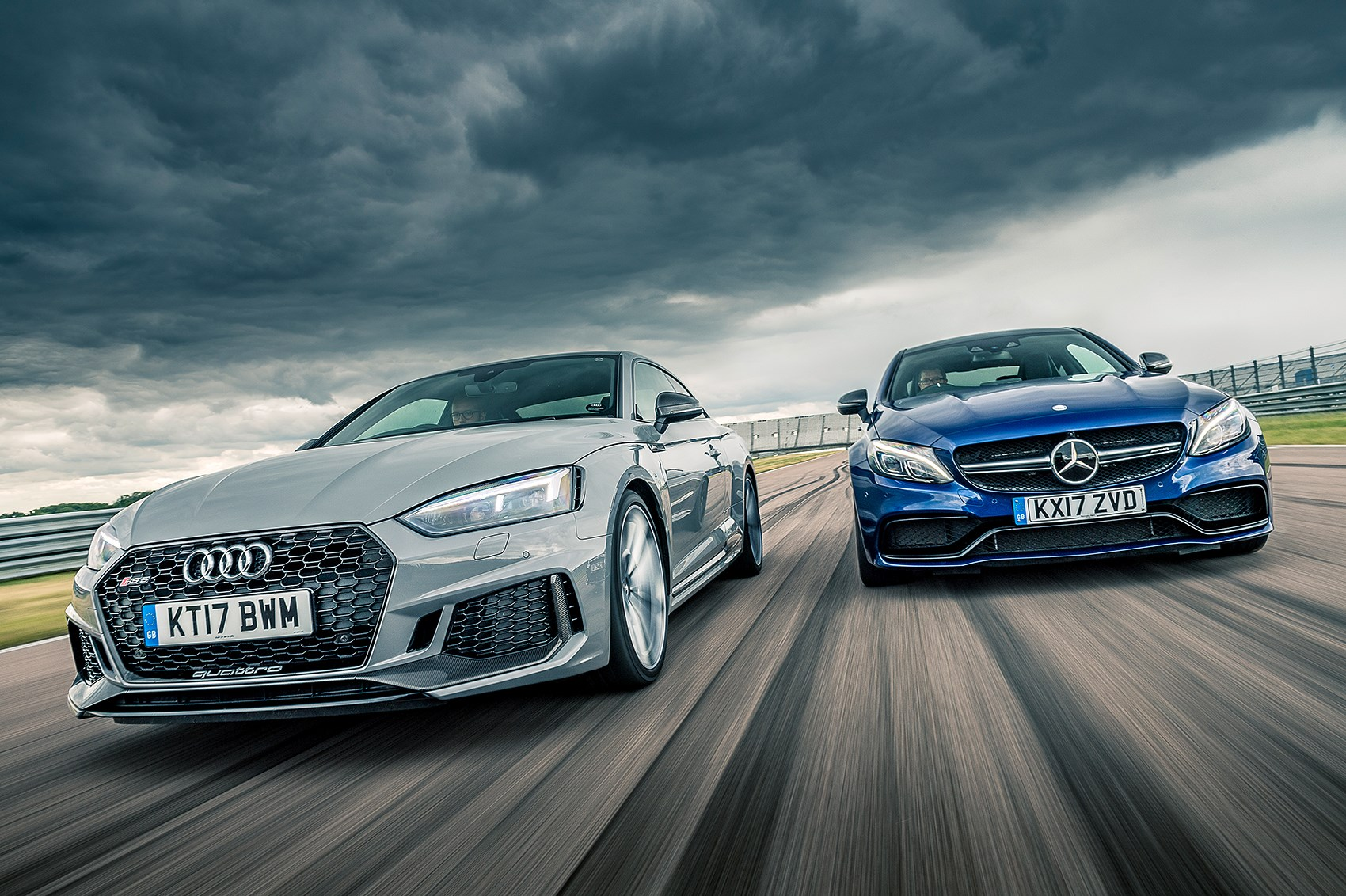 Audi RS5 vs Mercedes AMG C63 S twin test review by CAR Magazine