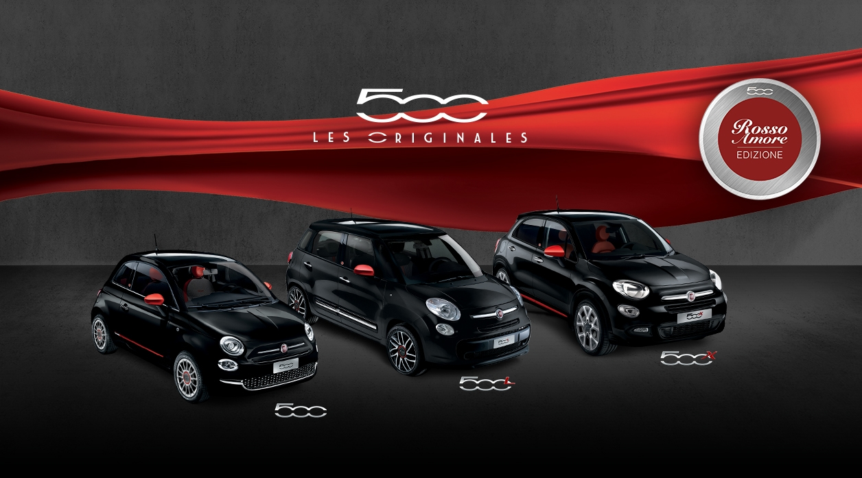 Fiat Sries Limites Rosso Amore Edizione Pour Les 500