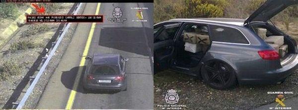 Le Transporteur Une Audi RS6 Avant Arrte En Espagne