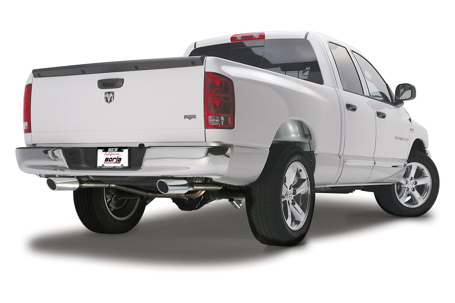 borla s type stainless steel cat back exhaust system with split rear exit