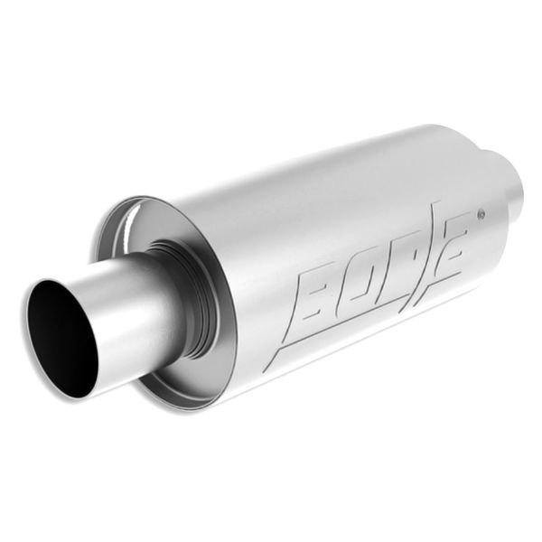borla s type stainless steel round gray exhaust muffler