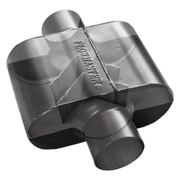 flowmaster super 10 series delta flow oval black exhaust muffler