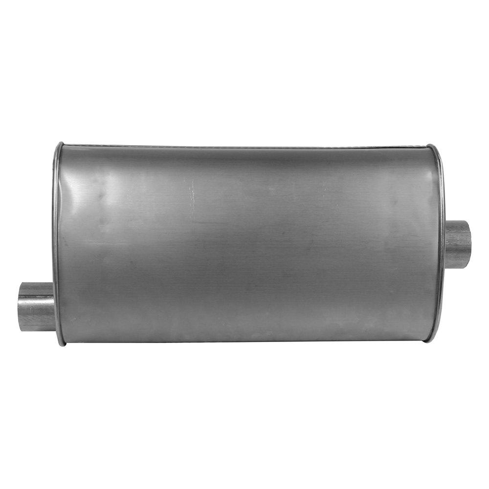 walker quiet flow stainless steel oval bare exhaust muffler