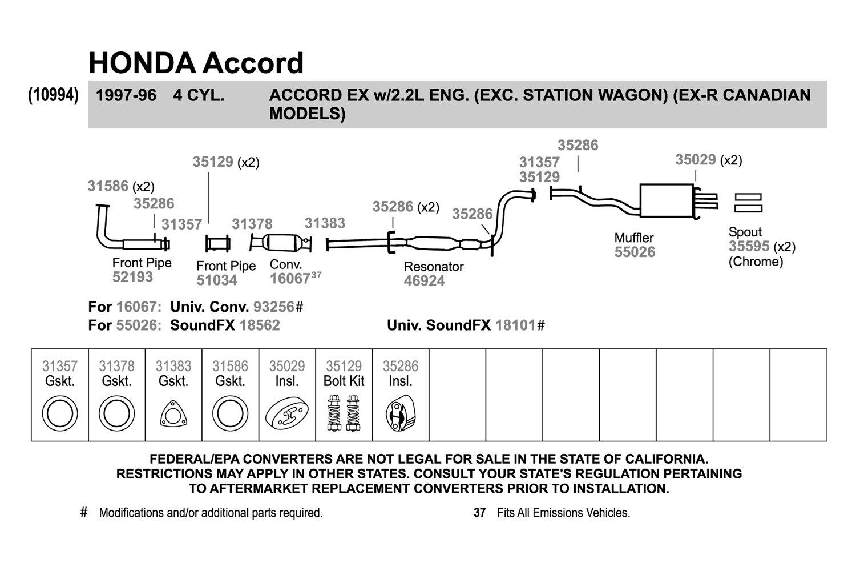 walker replacement exhaust kit