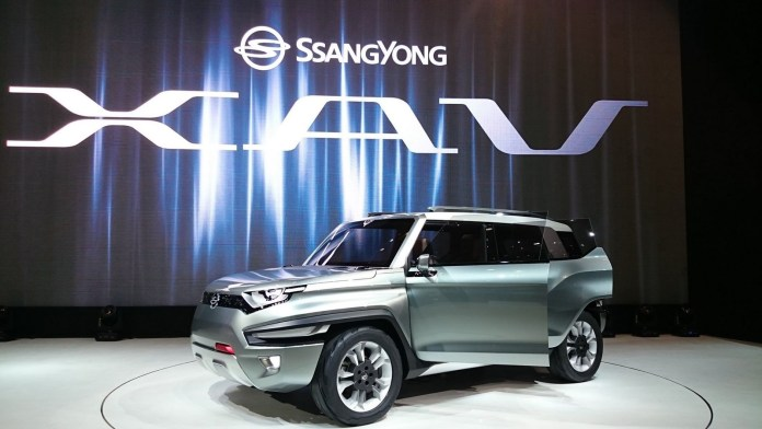 ssangyong xav concept is a small suv with e-awd | carscoops