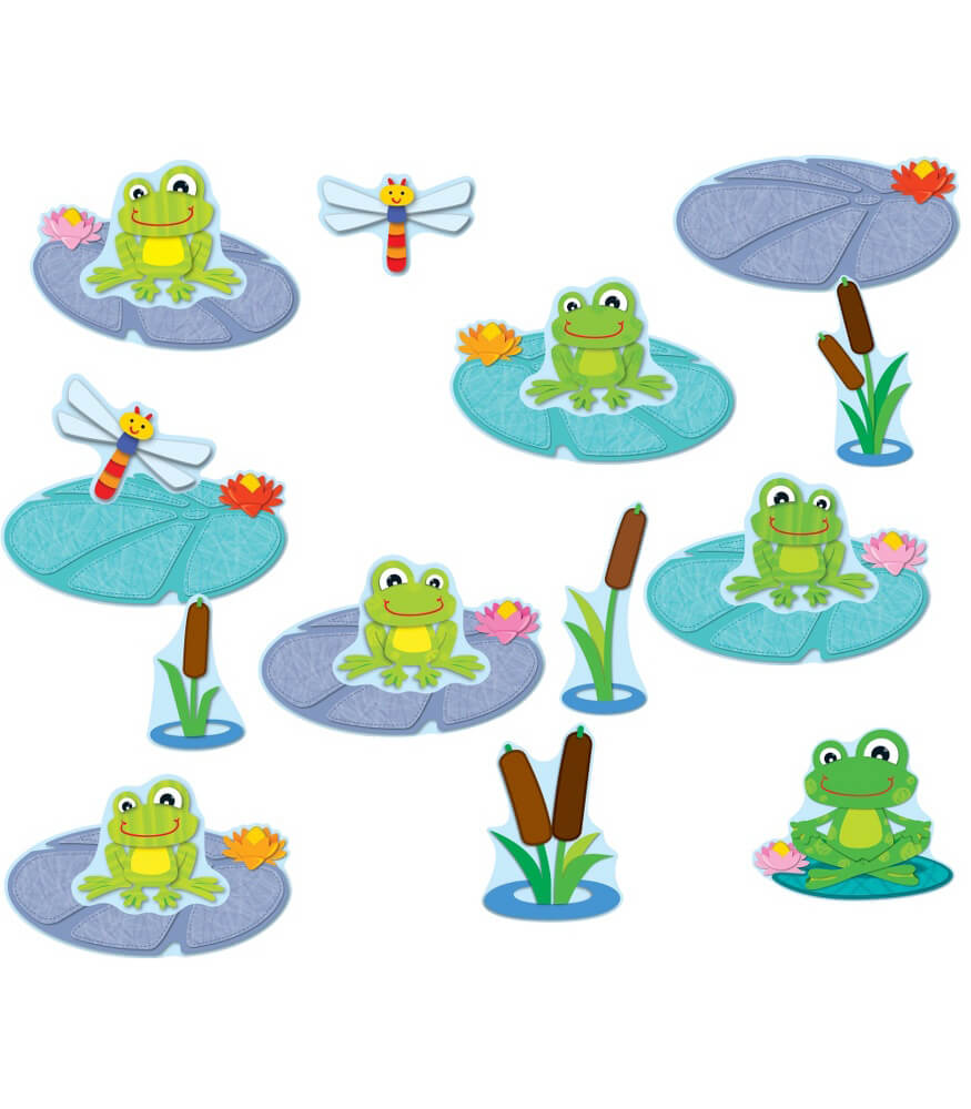 FUNky Frogs Job Assignment Bulletin Board Set Grade PK 5