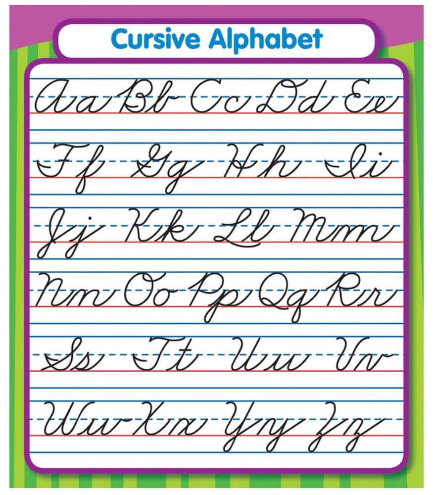 Packet Free Cursive Words Printable