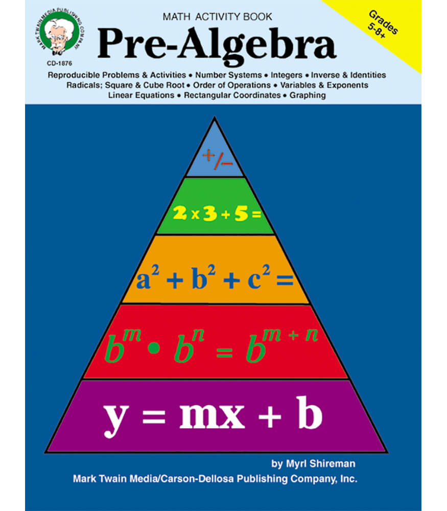 Pre Algebra Workbook Grade 5 8