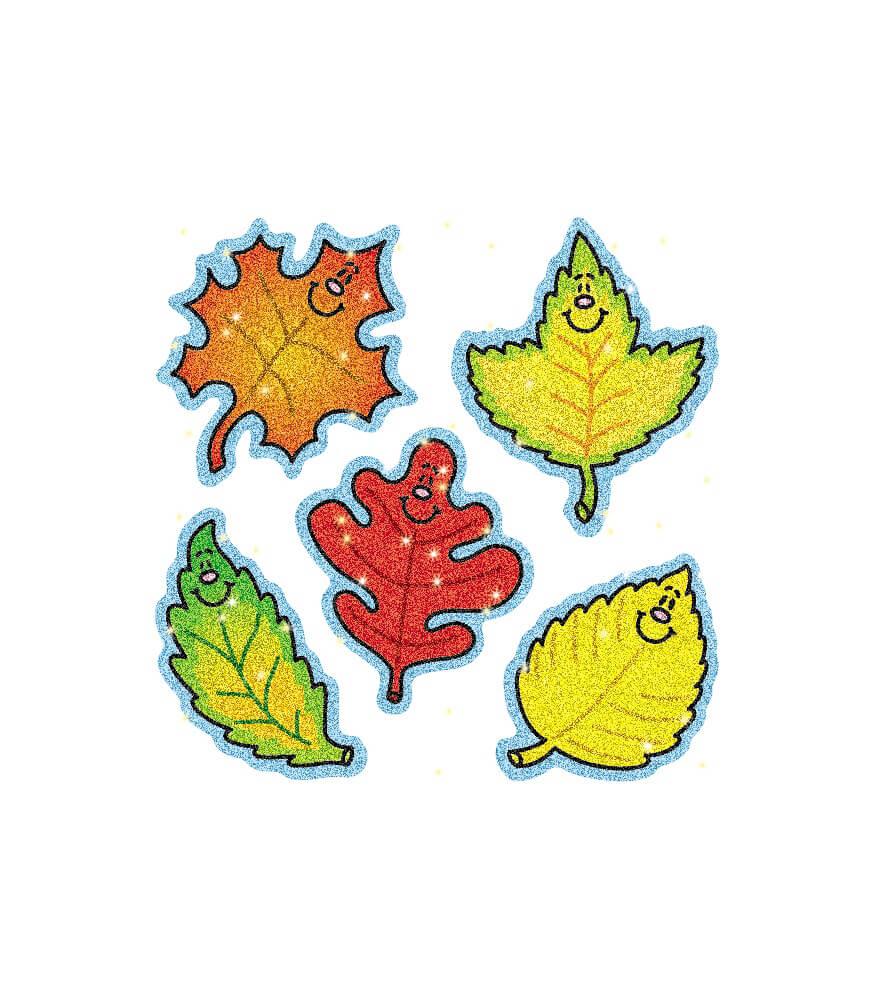 Fall Leaves Dazzle Stickers Grade PK 5 Carson Dellosa