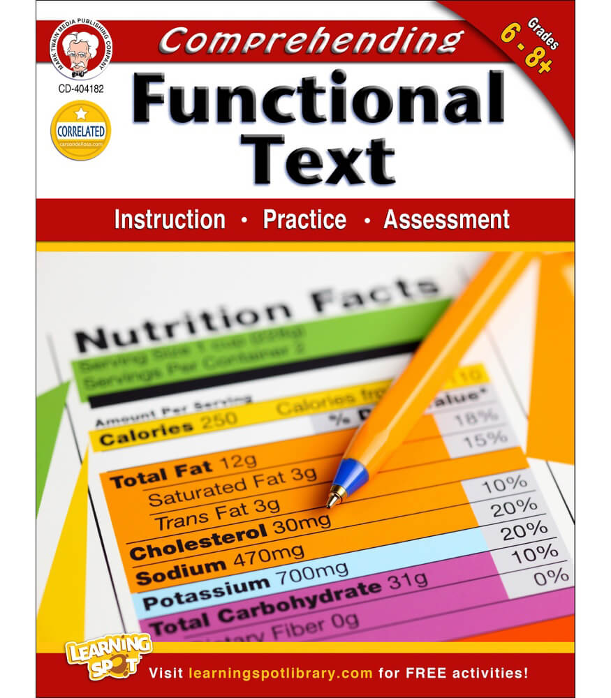 Prehend G Functi L Text W Kbook Gr De 6 8 C Rs Dellos