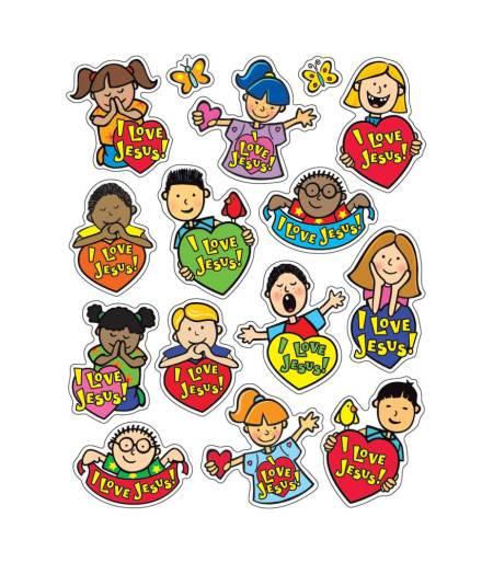 I Love Jesus Stickers