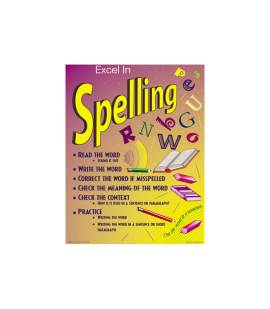 Excel in Spelling Chart