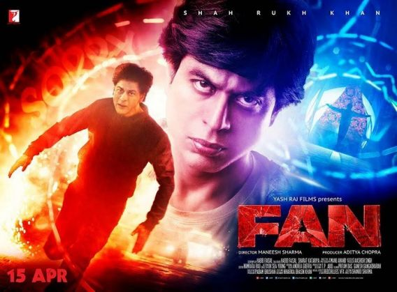 Image result for fan poster yash raj
