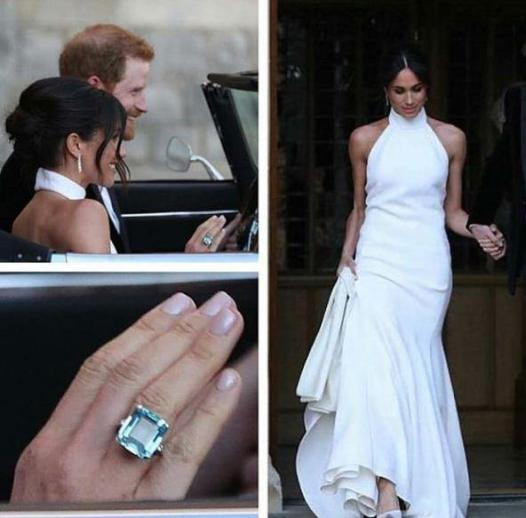 Image result for aquamarine ring meghan markle