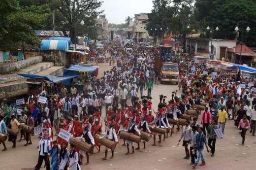AGNI rally in Jagdalpur, Bastar