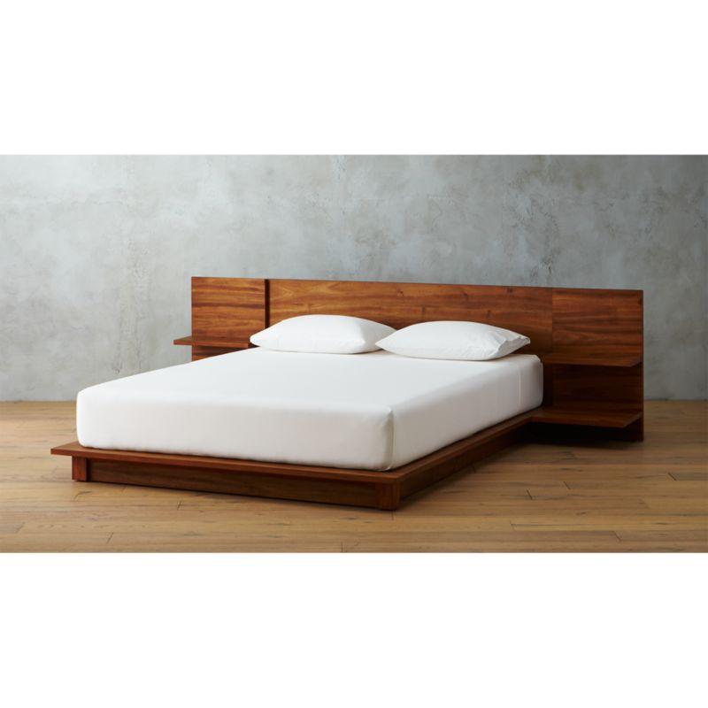 Andes Acacia Platform Bed CB2