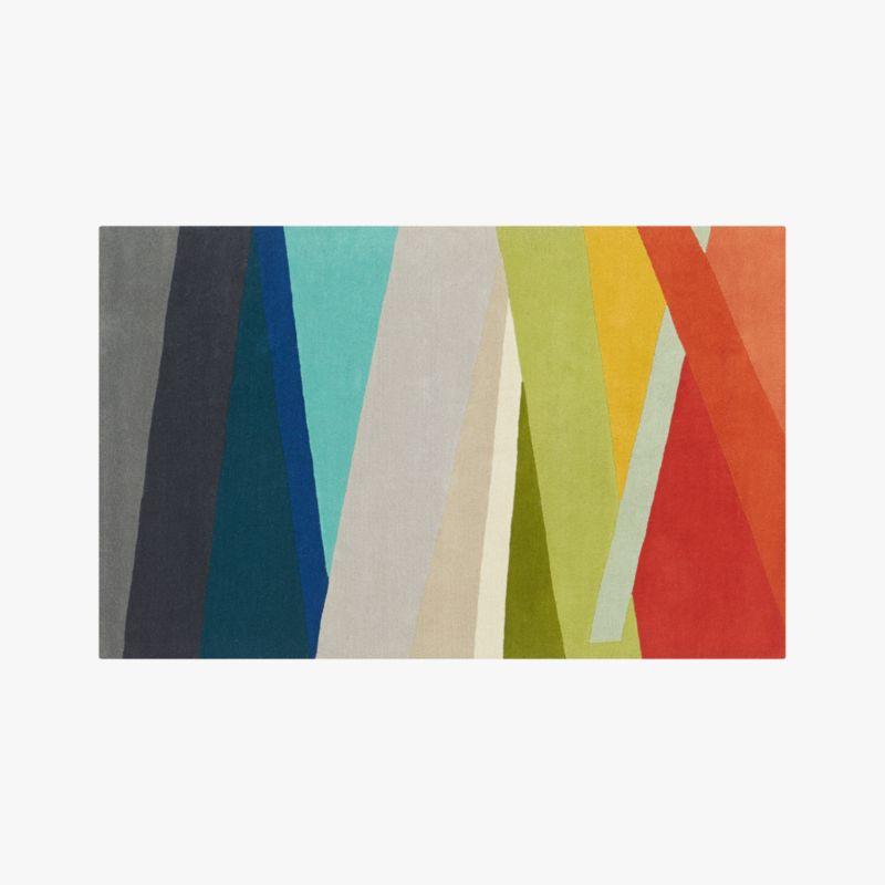 Banded Multicolor Stripe Rug 5x8 Reviews CB2