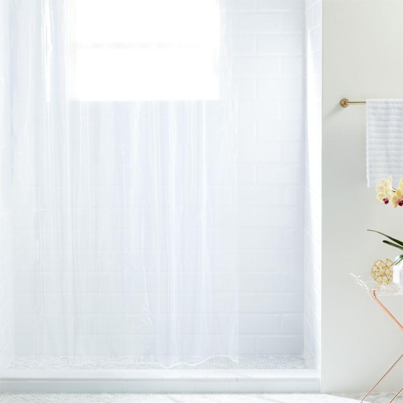 Peva Clear Shower Curtain Liner CB2
