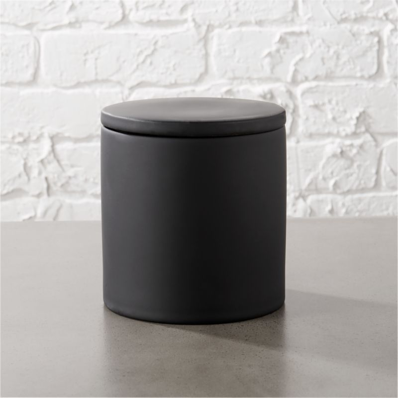 Rubber Coated Black Canister Reviews CB2