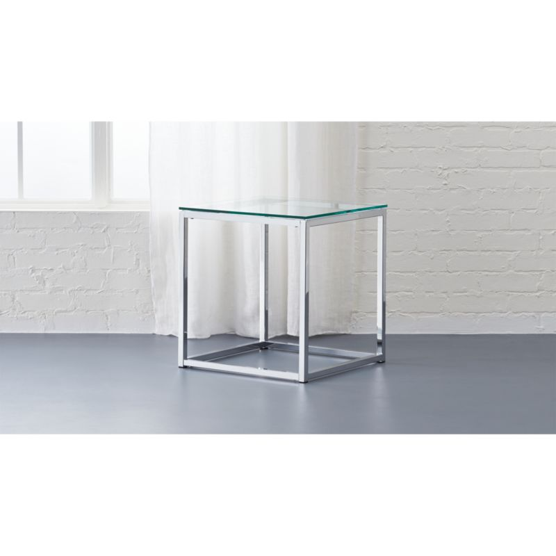 Smart Chrome And Glass Side Table