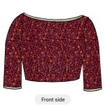 Shop Ethnovogue Pink Embroidered Velvet Blouse Made To Measure Dress For Women In All Sizes Blbs1806749