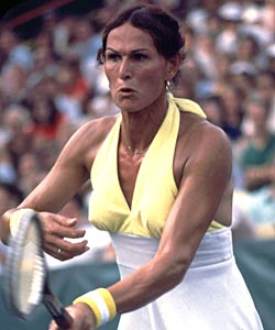 Despite a sex-change operation, Renee Richards was allowed to play on the women's circuit. (Getty Images)