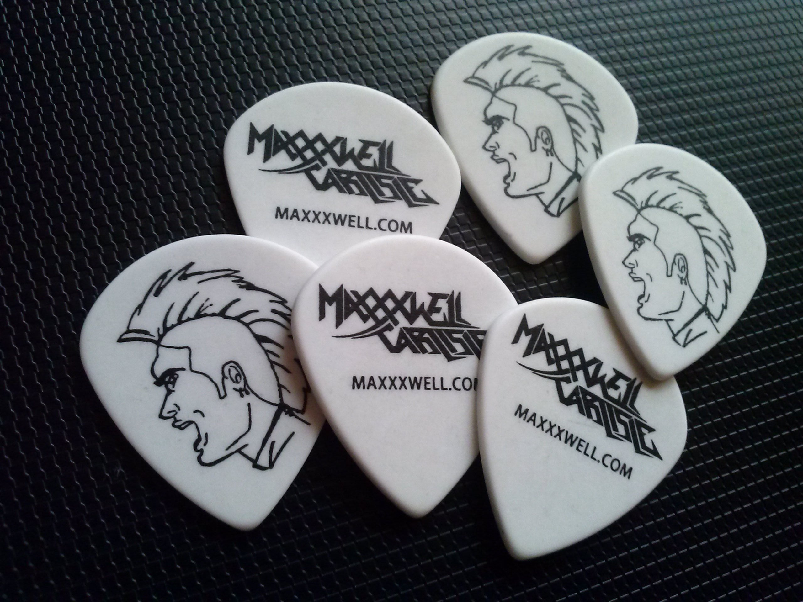 Image of Maxxxwell Carlisle Signature Guitar Picks (6)