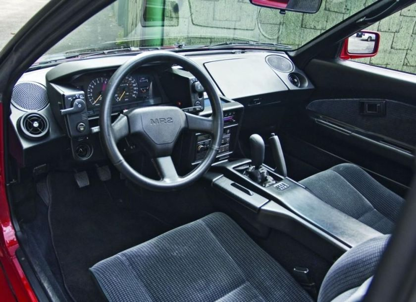 MR2 W10 Interior, nothing short of 80s.