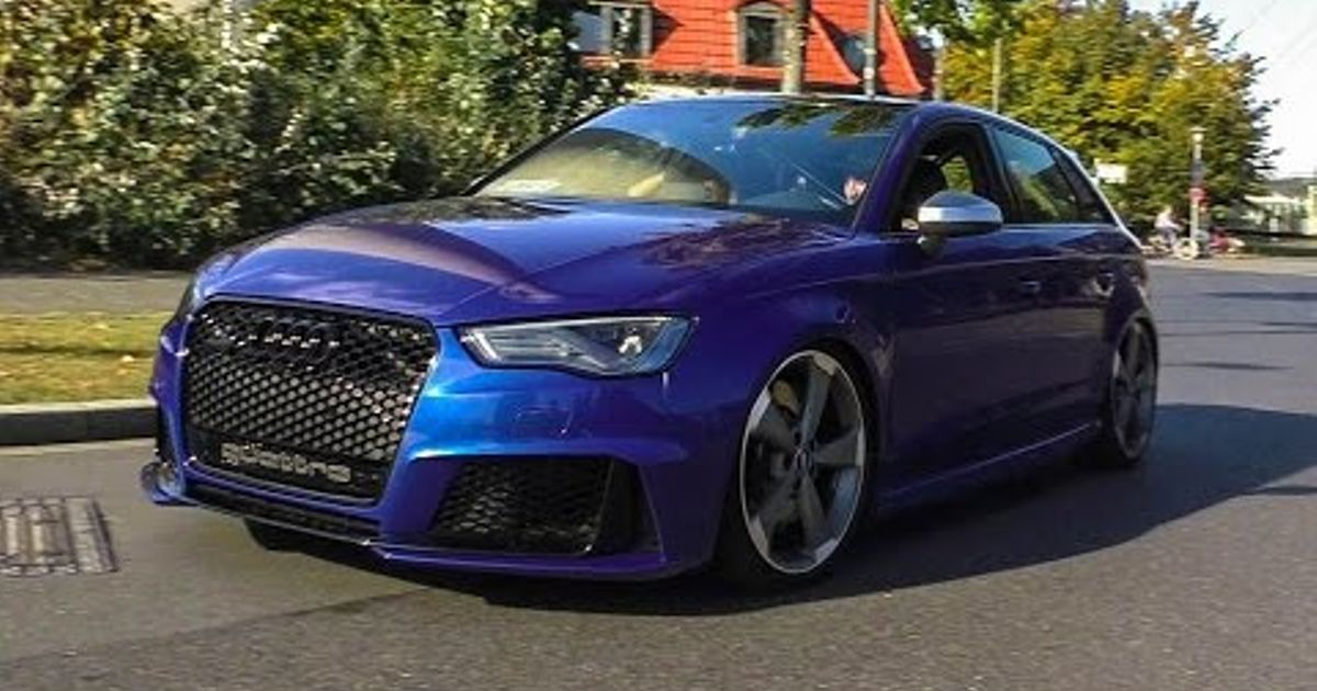audi rs3 8v with bull x exhaust
