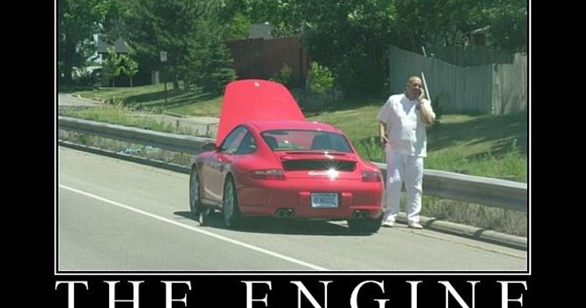 Porsches Are Front Engine Front Wheel Drive Riiight