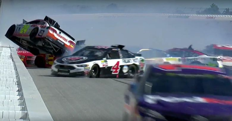 18 Cars Were Damaged In This Monstrous Nascar Crash At Talladega