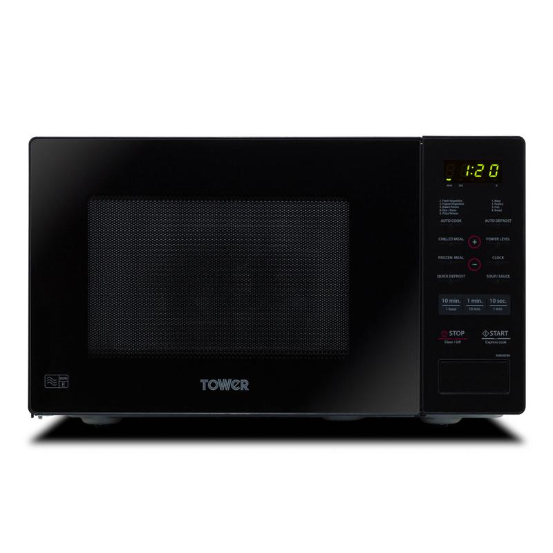 900w 26 litre touch microwave oven black