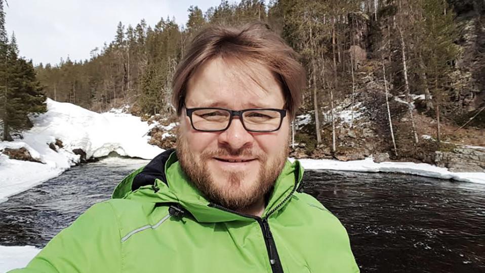 Mika Flöjt Kitkajoella.