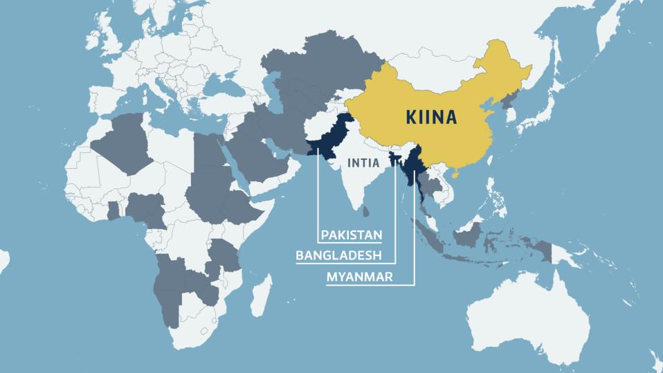 Kiinan asevientikartta