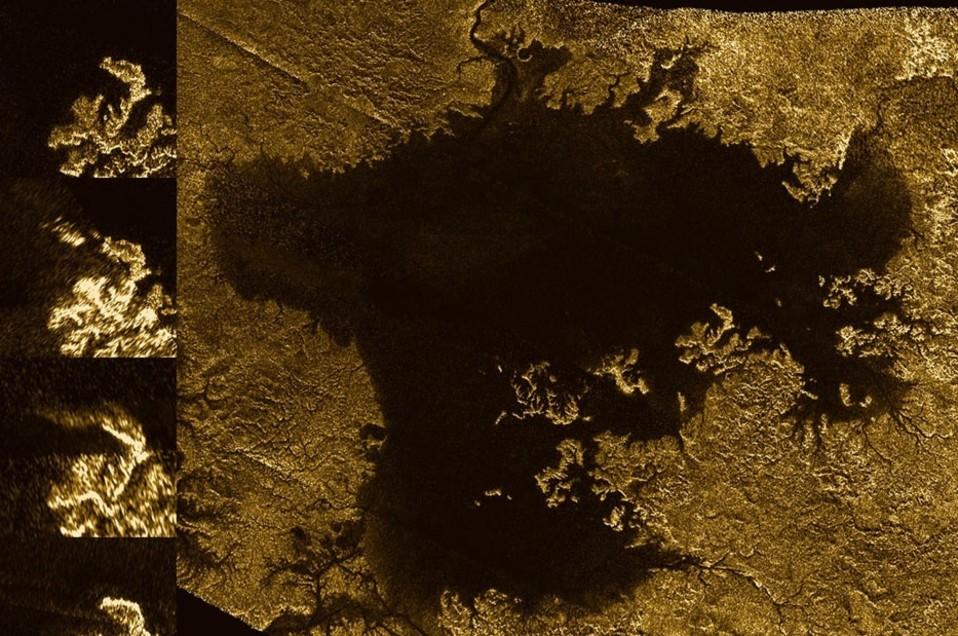 Rosoranrantainen metaanimeriavaruusluotaimen kuvaamana.