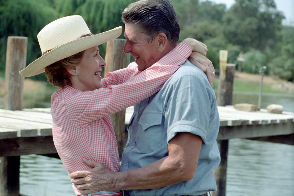 Presidentti Ronald ja Nancy Reagan, Santa Barbarassa, Californiassa vuonna 1983.