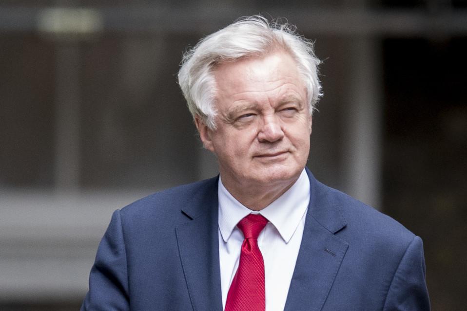 Britannian hallituksen brexit-neuvottelija, ministeri David Davis.