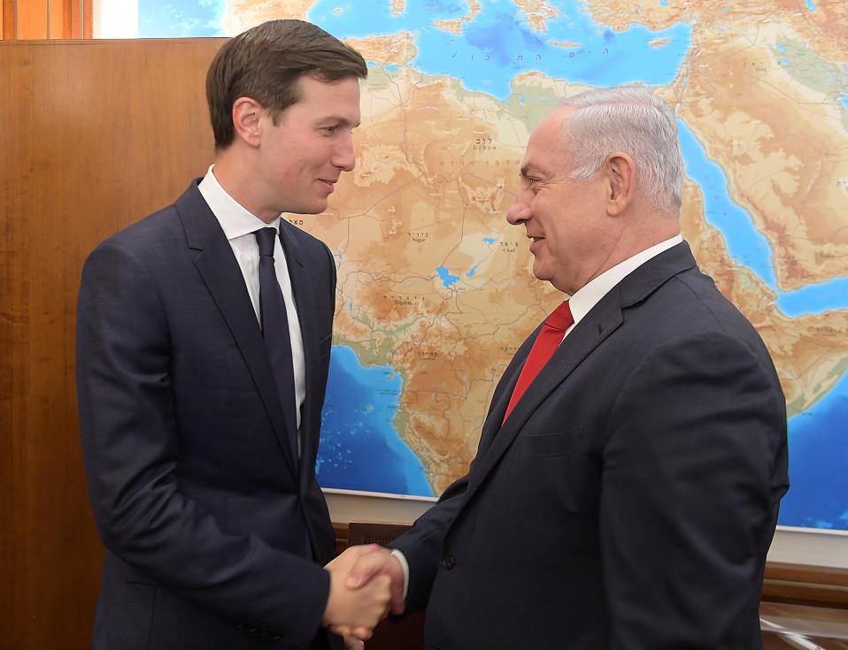 Jared Kushner ja Benjamin Netanjahu tapasivat Jerusalemissa keskiviikkona.