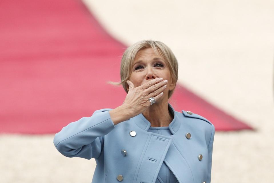 Emmanuel Macronin vaimo Brigitte Macron.