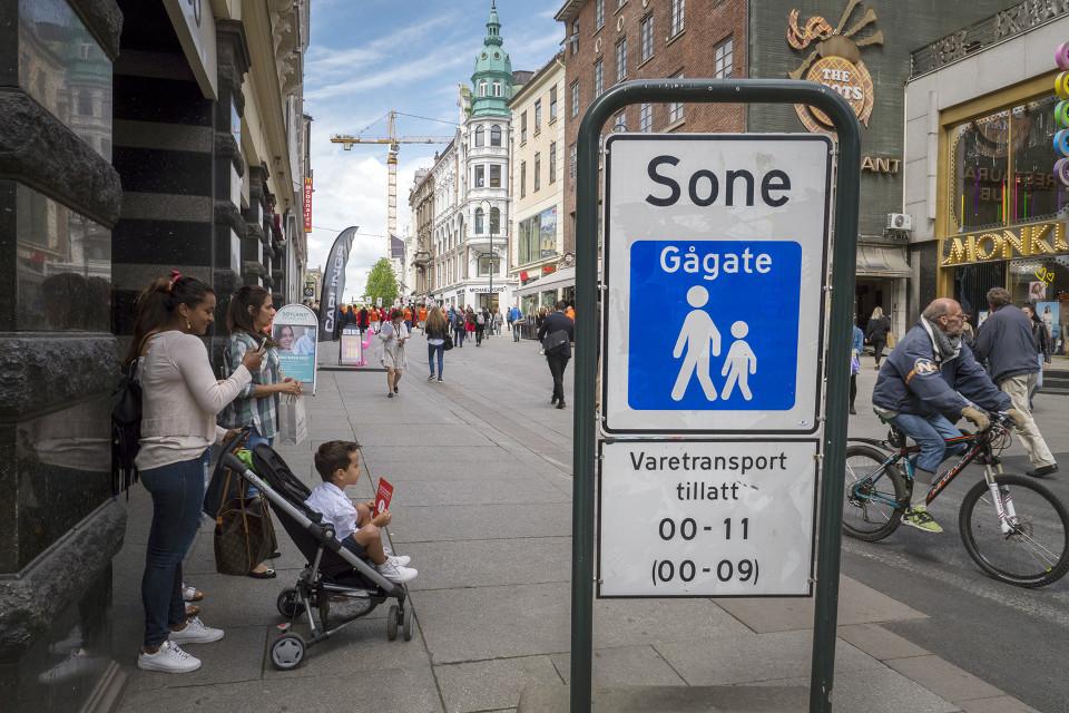 Kävelykatu Oslossa.