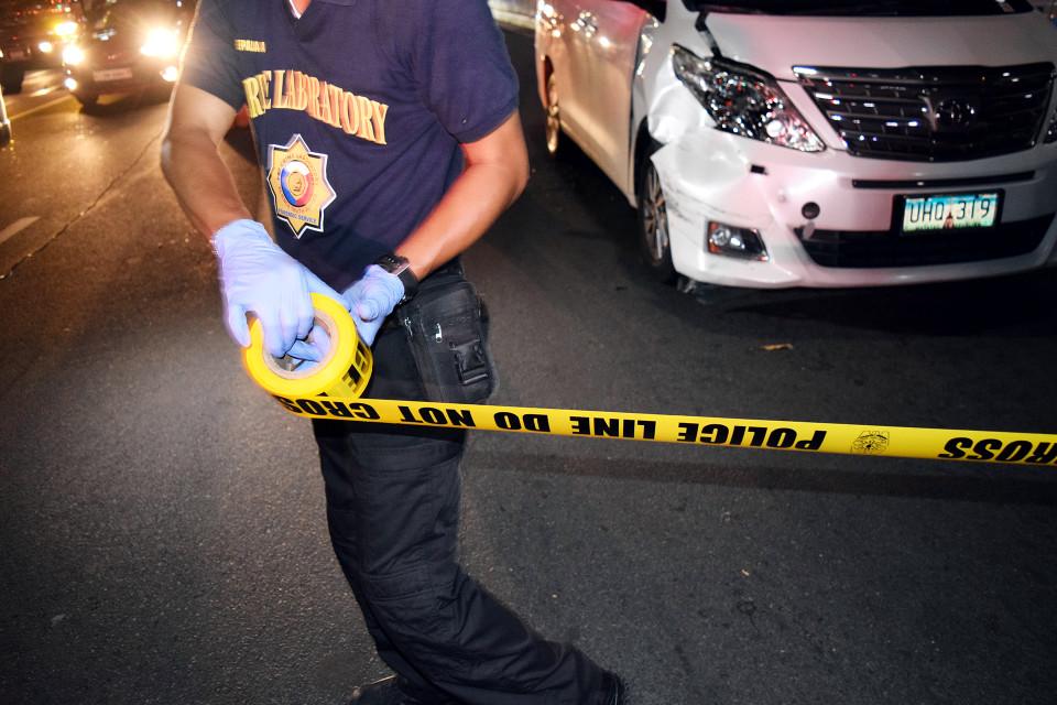 Poliisi Filippiinien Santa Ninossa.
